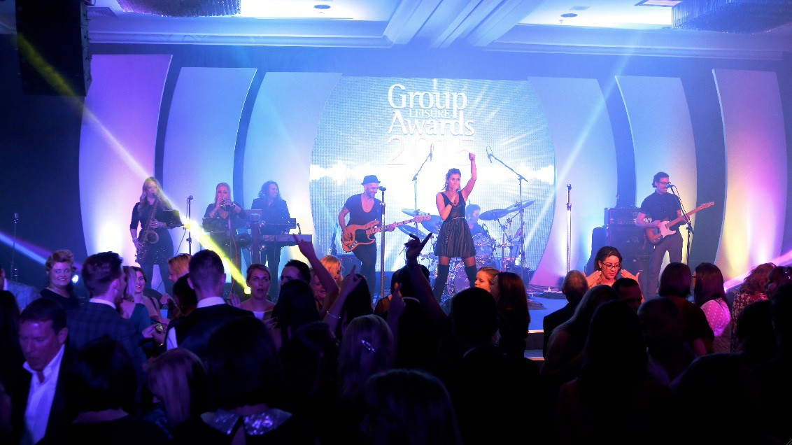 Band on Stage at the Group Leisure Awards