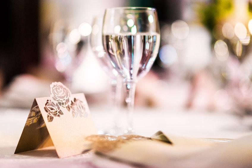 Wedding Table with Wine