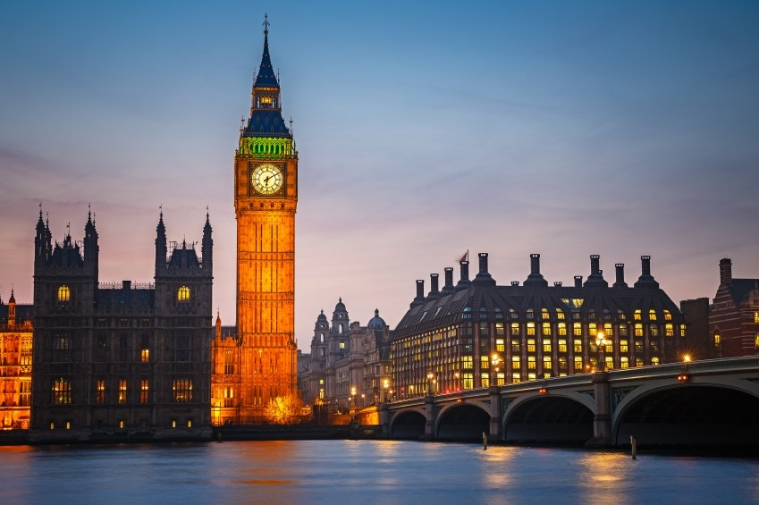 Big Ben and westminster bridge , London