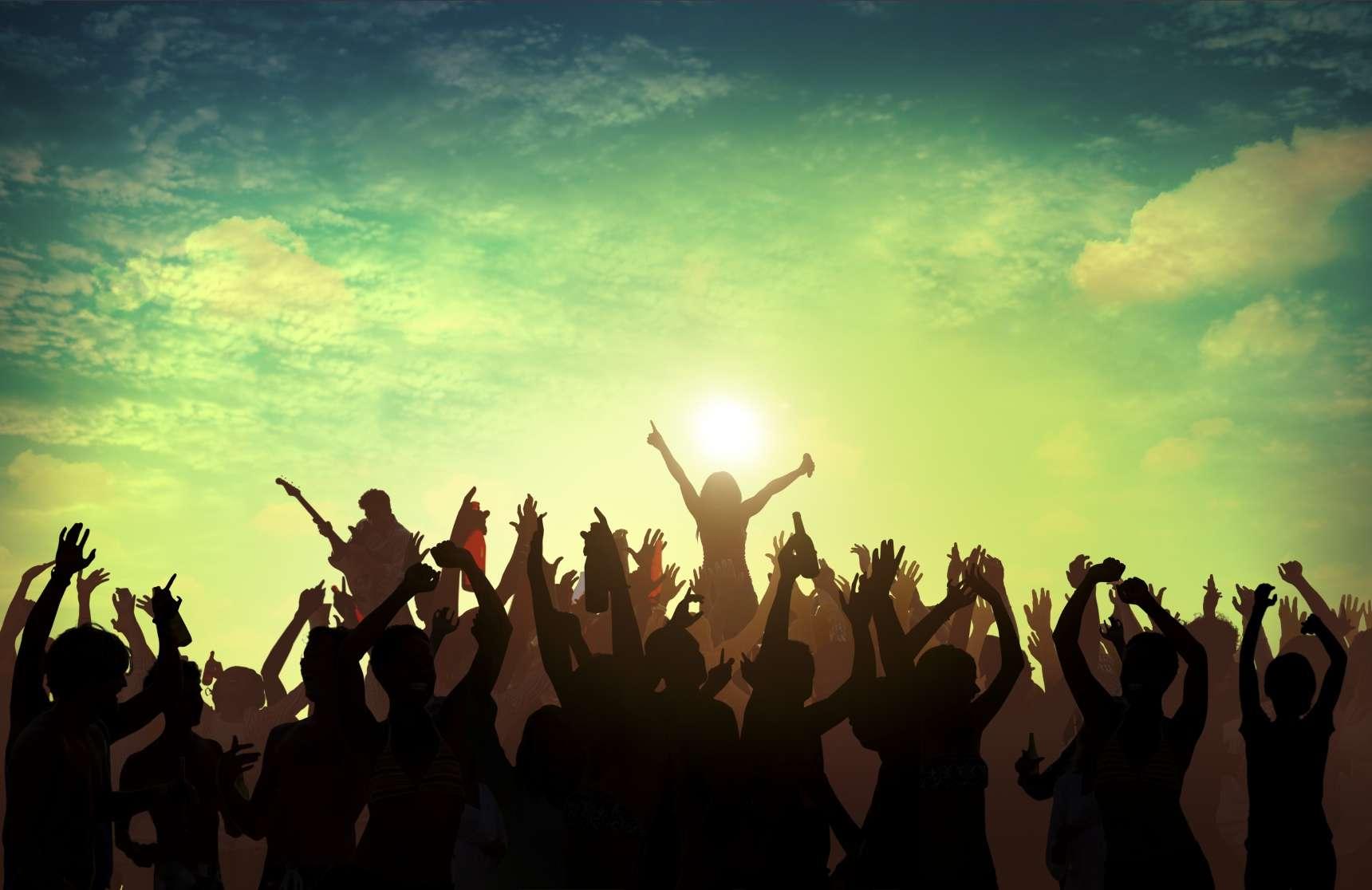 Beach Summer Music Concert Outdoors Recreational Pursuit Concept