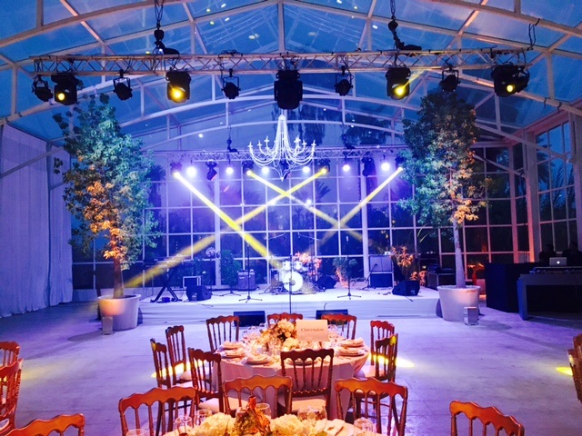 The stage is set for The Talent wedding band in Marrakech